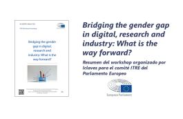 Resumen del workshop «Bridging the gender gap in digital, research and industry: What is the way forward?