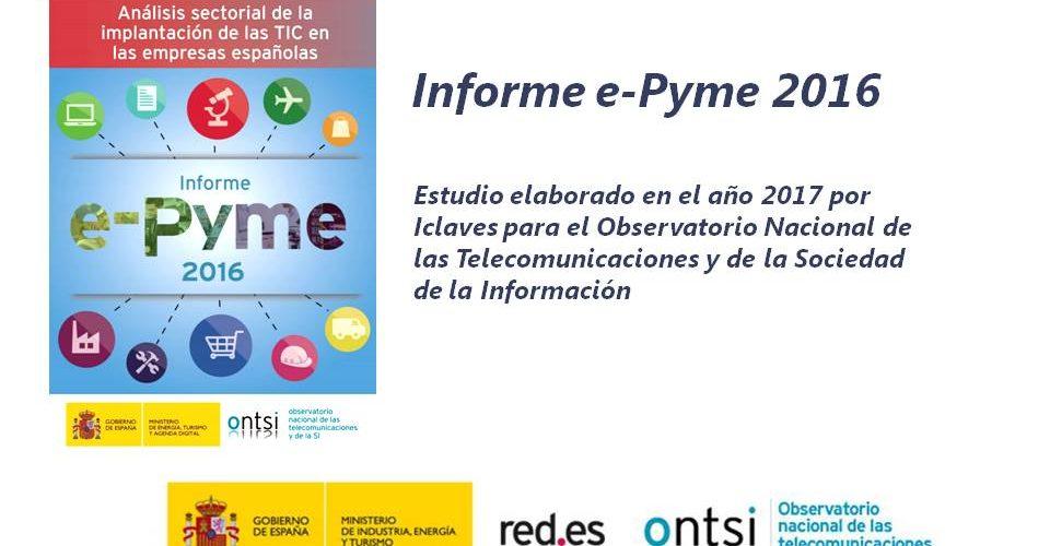 Informe e-Pyme 2016