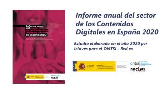 Estudio «Informe anual del sector de los Contenidos Digitales en España 2020»